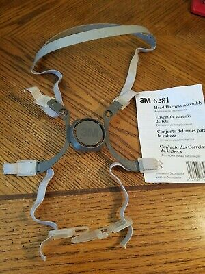 3m head harness assembly 6281 strap mask respiratory replacement