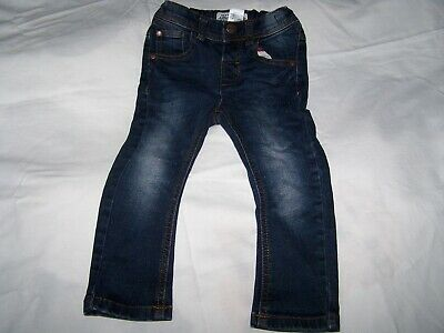 VGC Baby Boys Dark Blue Denim Jeans By Next Size 18/24m