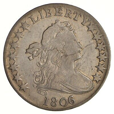 1806 Draped Bust Half Dollar - Heraldic Eagle Reverse - Circulated *2752