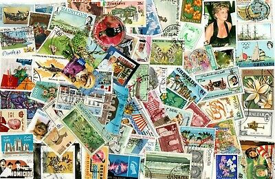 1/4 POUND ALL WORLD SELECTION inc COMMONWEALTH OFF PAPER STAMPS E407