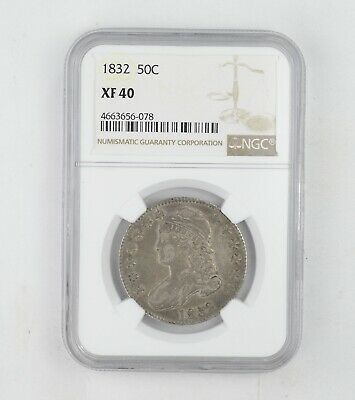XF40 1832 Capped Bust Half Dollar - NGC Graded *0230