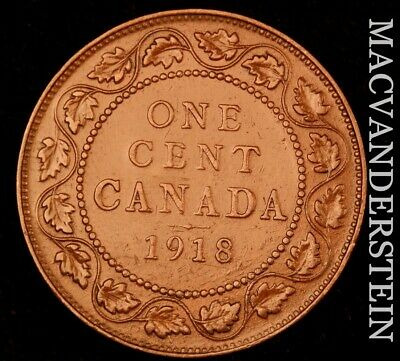 Canada: 1918 One Large Cent - Scarce  Better Date  #NR4859
