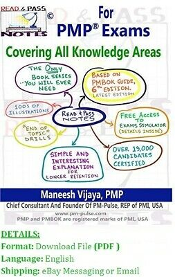 Read And Pass Notes For PMP Exams (Based On PMBOK Guide 6th)