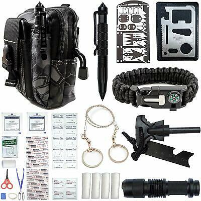 65 In 1 Outdoor Camping Survival Gear Kit Tactical Backbag EDC Emergency Kit