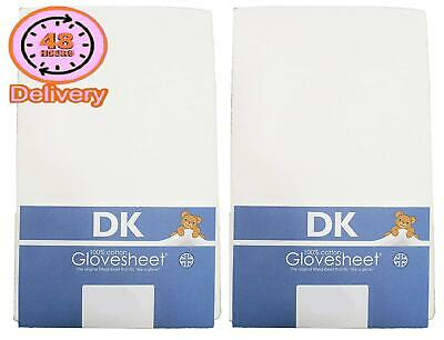 DK Glovesheets Two Pink GOTS Certified 100/% Organic Cotton Fitted Crib Sheets To Fit Mattress Size 84 x 36 cm