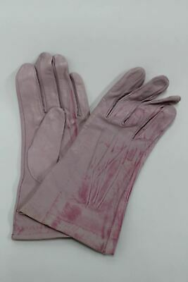 ASPINAL OF LONDON Ladies 100% Silk Lined Pastel Pink Leather Gloves Sz 8 NEW