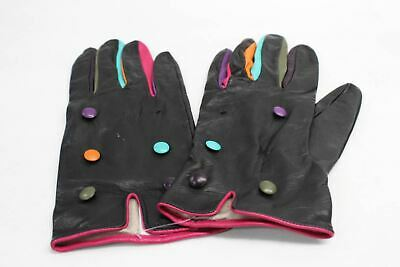 ASPINAL OF LONDON Ladies Multi Colour Button Leather Silk Gloves Size 8 NEW