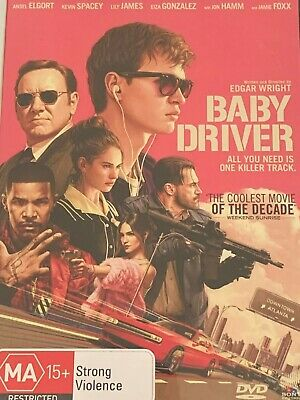 Baby Driver  Kevin Spacey Ansel Elgort Jamie Foxx DVD Like New