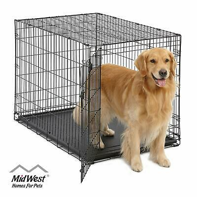 Large Dog Crate | MidWest ICrate Folding Metal Dog Crate | Divider Panel