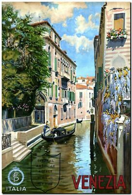 ART PRINT POSTER VINTAGE TRAVEL VENICE LIDO CANAL ITALY NOFL1544
