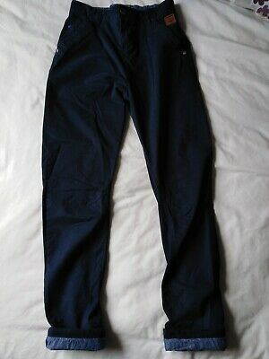 Next Older Boys Age 12-13 Navy Blue Twisted Roll Up Chino