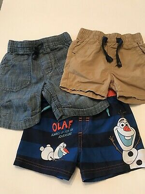 3 Pair Of Boys Next Summer Shorts Aged 12-18 Months. Excellent Condition