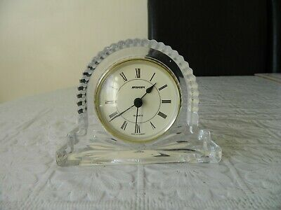 Vintage Lead Crystal Staiger quartz Mantle clock - Napoleon hat