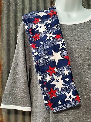 LuLaRoe Tween 4th of July Leggings. Navy blue with red and white stars