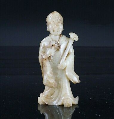 FINE Chinese Carved Jade / Hardstone Imperial Immortal Monk