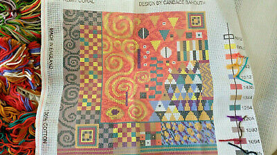 Ehrman Needlepoint pillow front or Picture kit Candace Bahouth Klimt Coral