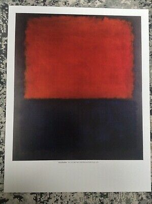 Mark Rothko PRINT Vintage 2003 Abstract Expressionism Modern Art Panel One Mural