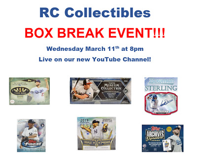Baseball Live Mixed Box Break (11 Boxes) 3/11/20 - Dodgers
