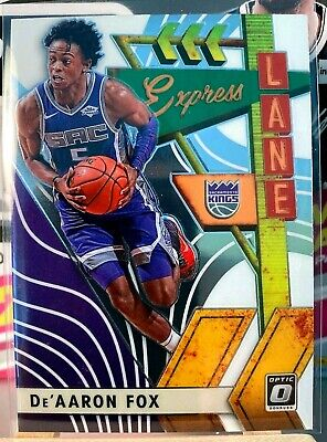 De'Aaron Fox Express Lane Insert 2019-20 Panini Donruss Optic Basketball