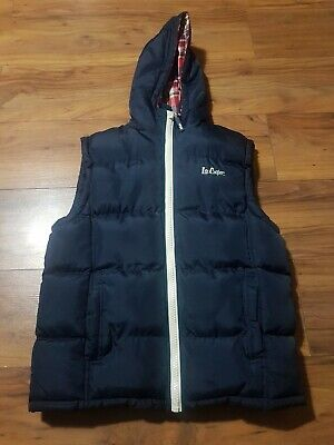 Lee Cooper Navy Hooded Girls Gilet Padded Jacket Age 13 cost £49 Body Warmer