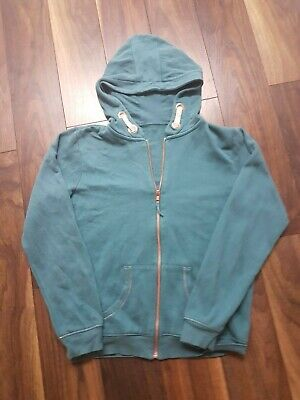 Girls Teal Green M&S Cotton Zip Through Hoodie Hooded Top - 13/14 years