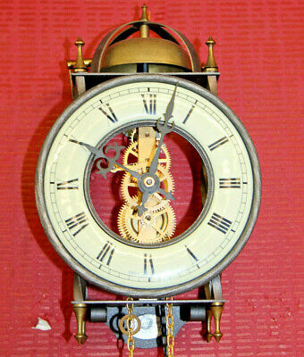 Old Wall Clock particular Skeleton clock Made in Germany