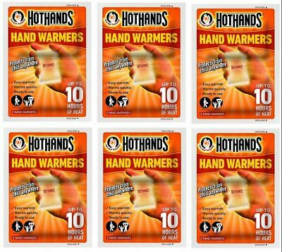 6 Pairs of Warmer Handwarmers Hot Hands Instant Pocket Disposable Hand Warmers