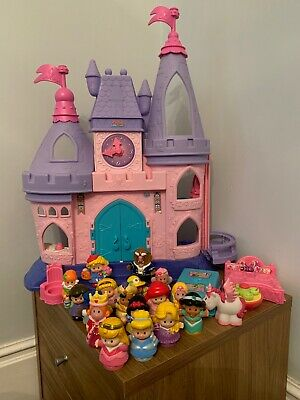 Fisher Price Little People Disney Princess Castle Bundle With Figures And Extras
