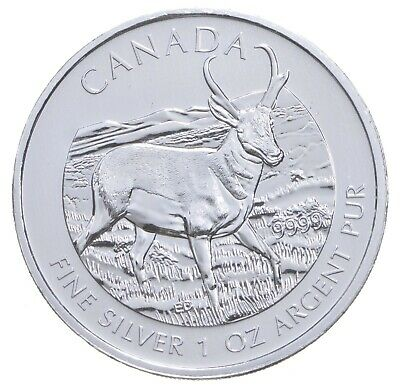 2013 1 oz Canada Silver Deer $5 Coin .9999 Fine Brilliant Uncirculated *143