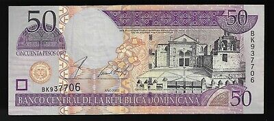 Dominican Republic 2002 Low S//Ns UNC 50 Pesos Oro P-170b