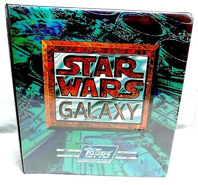 Star Wars Galaxy Trading Cards Binder Lot Series 1,2,3 Complete Sets & Chase +++