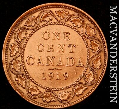 Canada: 1919 One Large Cent - Scarce  Better Date  #NR4816