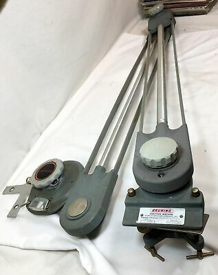 "Bruning Model 4000 Drafting Machine - 24"" Arms - Protractor Head"