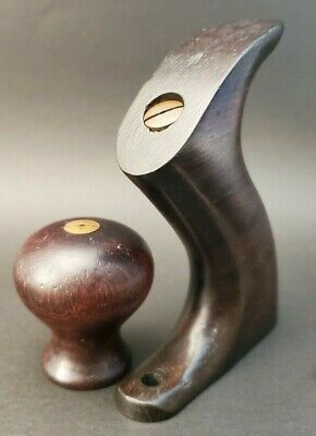 Early Stanley Plane Rosewood Knob & Rear Tote/Handle With Hardware No. 4 1/2-8*