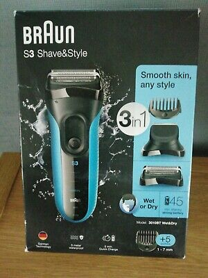 Braun Series 3 Shave and Style 3-in-1 Electric Shaver Model 3010BT