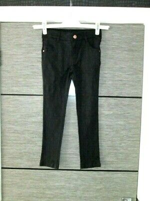 Girls Ted Baker Black Skinny Trousers Age 7 Yrs Lovely Cond
