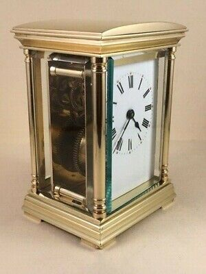 Antique French carriage/mantle clock C1900. With key. Full service Jan. 2020.