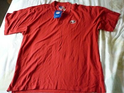 NFL San Francisco 49ers Vintage Reebok Polo Shirt 3XL XXXL Red with tags