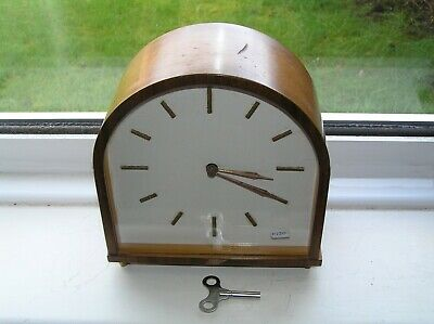 Mantel Clock Smiths Enfield Floating Balance  Art-deco GWO Retro Mantle 0120