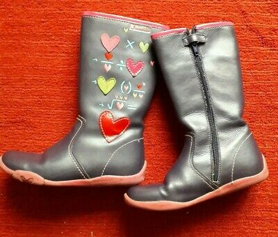 Agatha Ruiz De La Prada girls purple pink hearts equation designer boots 32 13