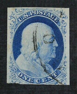 CKStamps: US Stamps Collection Scott#9 1c Franklin Used CV$95