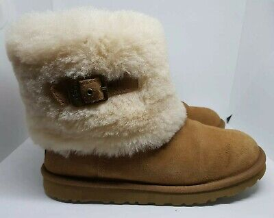 Ugg Australia Ellee S/n1002741 Ladies Mid Calf Chestnut Boots Uk 6.5