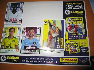 66 x Panini Panini's Premier League football 2020 stickers all different