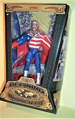 Wwe Wcw Wwf Tna New Boxed Defining Moments Sting Mattel Elite Wrestling Figure