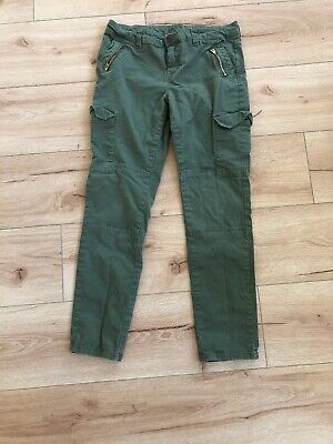 Justice Girls Green Skinny Pants, Size 14.5