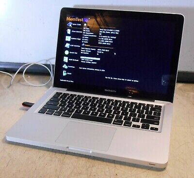 APPLE Macbook A1278 Intel core i5-3210M @ 2.50GHz 4GB Laptop for parts, no hdd