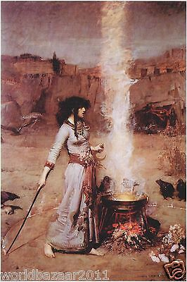 John William Waterhouse Print The Magic Circle Witchcraft Wicca Spell Potion