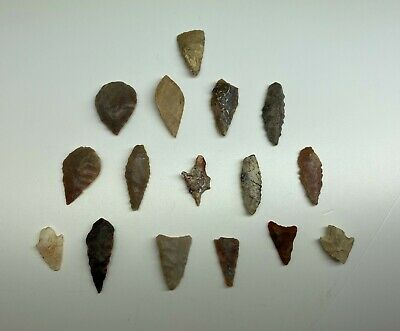 Rare Ancient Neolithic Flint Arrowheads (over 5,000 years old)