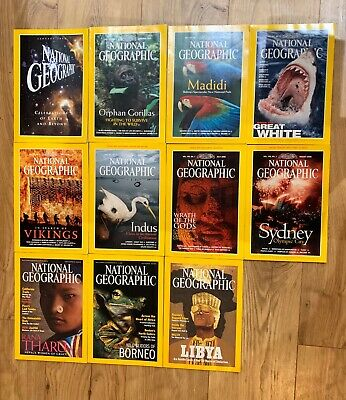 National Geographic Magazines 2000 x11 Issues Job Lot. Special Millennium issue.