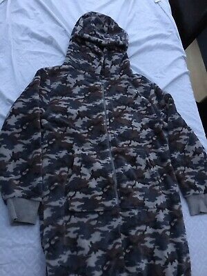 Boys 14 Years NEXT Camouflage All in one 1onesie fleece Pyjamas Pj Excellent Con